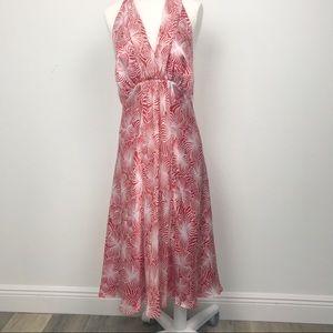 Harold's halter silk dress